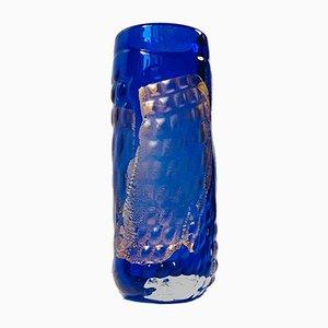 Dänische Vase aus Glas & Gold von Tchai Munch, 1990er