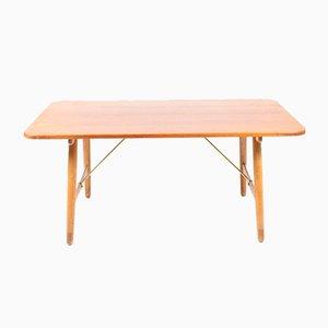Mesa de teca y roble de Børge Mogensen para Søborg Møbelfabrik, años 50