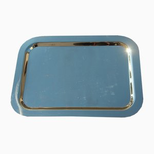 Italian Large Solid Brass Tray, 1970s