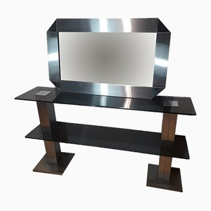 Console Table and Mirror, 1970s