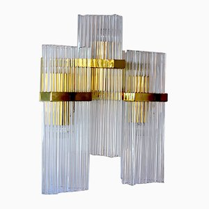 Vintage Golden Triple Wall Lamp by Gaetano Sciolari for Lightolier