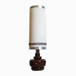 Französische Vintage Stehlampe mit Säule aus Keramik