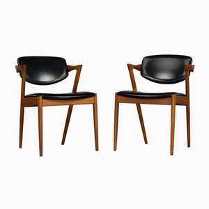Danish Z-Chairs by Kai Kristiansen for Slagelse, 1960s, Set of 2