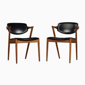 Danish Z-Chairs by Kai Kristiansen for Slagelse, 1960s, Set of 2