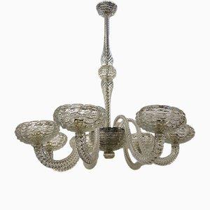 Lámpara de araña vintage de vidrio de Barovier & Toso
