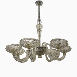 Vintage Glass Chandelier from Barovier & Toso