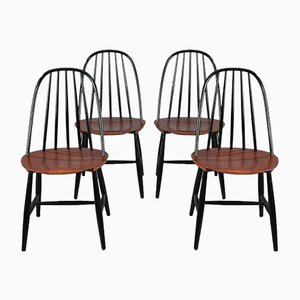 Scandinavian Dining Chairs from Hagafors, 1950s, Set of 4