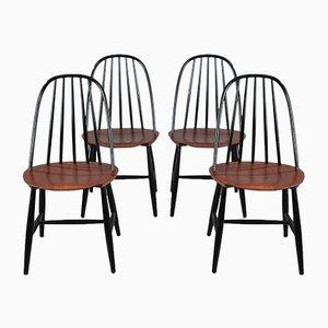 Skandinavische Esszimmerstühle von Hagafors, 1950er, 4er Set