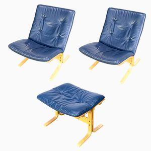 Ottoman & 2 Siesta Chairs by Ingmar Relling for Westnofa, 1970s