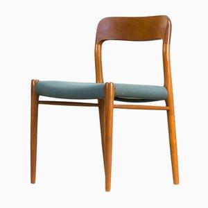 Modell 75 Esszimmerstühle von Niels O. Møller für J.L. Møller, 1960er, 6er Set