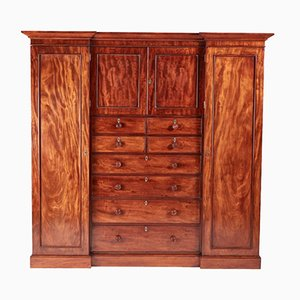 Large William IV Mahogany Wardrobe