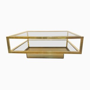 Vintage Brass Coffee Table by Nazaret for Cidue