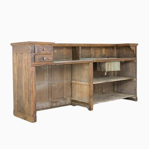Antique Oak Bar with Zinc Top