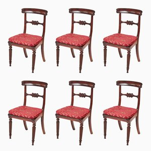William IV Rosewood Dining Chairs, Set of 6