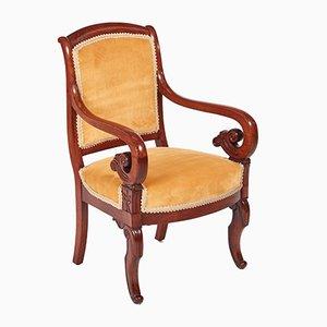 Chaise de Bibliothèque Regency Antique en Acajou