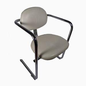 Spanischer Armlehnstuhl aus Aluminium und Skai, 1960er