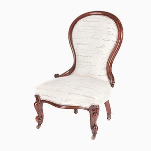 Victorian Mahogany Ladies Chair, 1860s