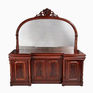 Großes viertüriges viktorianisches Sideboard aus Mahagoni, 1860er