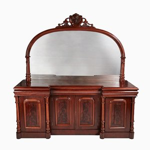 Large Victorian Mahogany Four Door Sideboard, 1860s