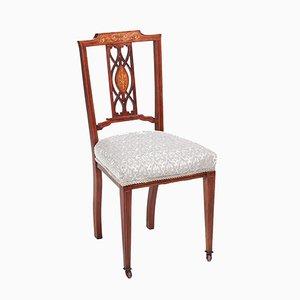 Edwardian Inlaid Mahogany Side Chair