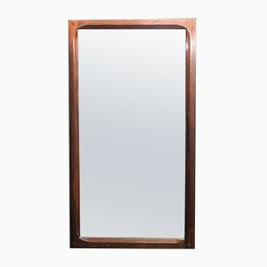 Danish Rosewood Wall Mirror by Aksel Kjersgaard for Odder, 1960s
