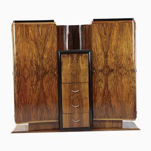 Art Deco Walnut Bar Cabinet, 1920s