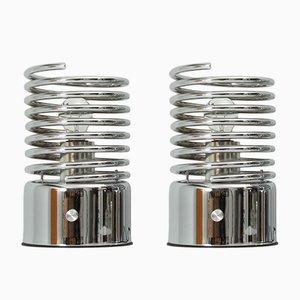 Lámparas de mesa en forma de espiral, años 70. Juego de 2