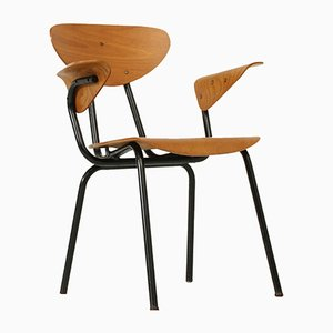 Vintage Bürostuhl aus Schichtholz, 1950er