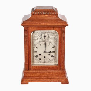Large Antique Oak 8-Day Bracket Clock