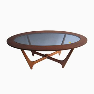 Vintage Oval Teak Coffee Table, 1960s