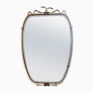 Vintage Spiegel mit Rahmen aus Metall, 1950er