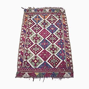Antique Turkish Wool Kilim Rug