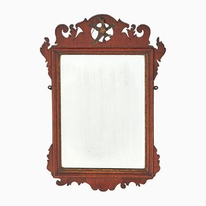 George III Mahogany Wall Mirror, 1800s