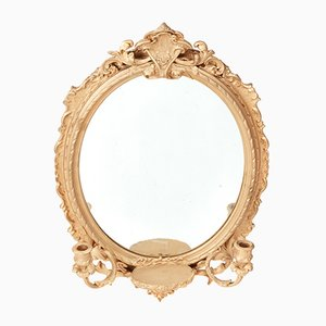 Oval Antique Wall Mirror, 1860s