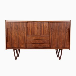 Rosewood Highboard by Kurt Østervig for Randers Møbelfabrik, 1960s