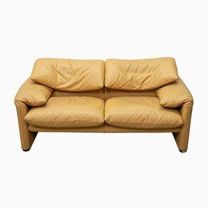 Maralunga Leather Sofa by Vico Magistretti for Cassina, 1980s