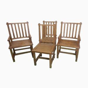 Chinesische Vintage Stühle, 1950er, 4er Set