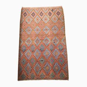 Alfombra Kilim turca Mid-Century de lana, años 60