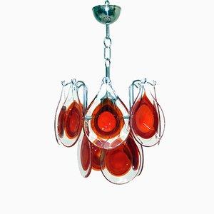 Kronleuchter aus Muranoglas von Vistosi, 1960er