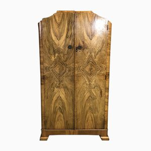 Art Deco Walnut Burl Cabinet, 1930s