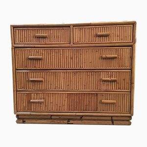 Bamboo Chest of Drawers, 1960s