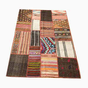 Mid-Century Turkish Patchwork Wool Kilim Rug