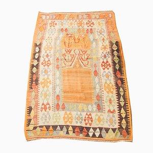 Alfombra Kilim turca Mid-Century de lana, años 50
