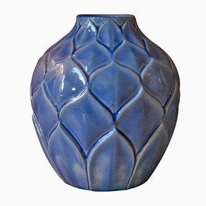 Französische Art Deco Craquelè Vase, 1930er