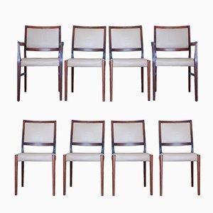 Esszimmerstühle aus Palisander von Svegards, 1970er, 8er Set