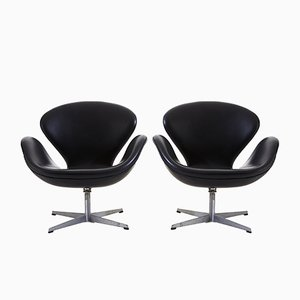 Swan Armchairs by Arne Jacobsen for Fritz Hansen, 1950s, Set of 2