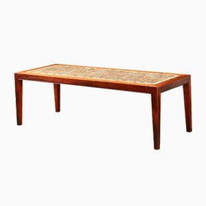 Rosewood Coffee Table by Severin Hansen for Haslev Møbelsnedkeri