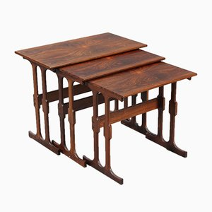 Vintage Danish Rosewood Nesting Tables