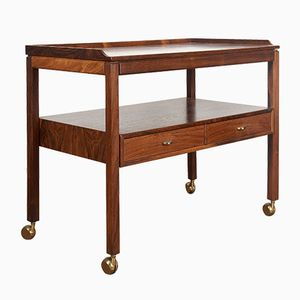 Swedish Rosewood Serving Bar Cart by Sven Engström & Gunnar Myrstrand for Tingströms, 1960s