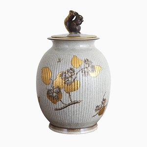Frasco danés vintage de porcelana de Royal Copenhagen, años 30